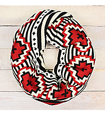 Red Mesa Infinity Scarf #EANT8494-BK