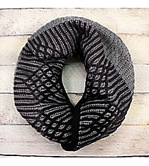 Ogee Whiz Black Knit Inifinty Scarf #EANT8509-BK
