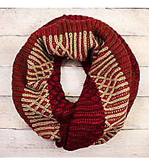 Ogee Whiz Red Knit Inifinty Scarf #EANT8509-RD