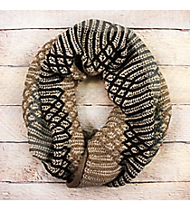 Ogee Whiz Taupe Knit Inifinty Scarf #EANT8509-TP