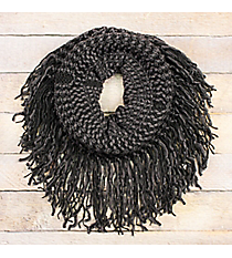 Earl Grey Fringed Tube Scarf #EANT8511-GE