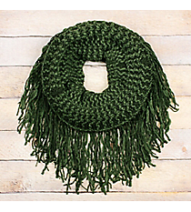 Wintergreen Fringed Tube Scarf #EANT8511-GN