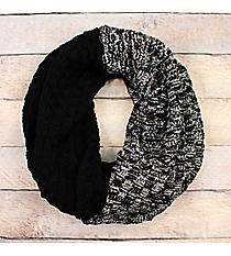 Black Colorblock Infinity Scarf #EANT8518-BK