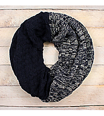 Navy Colorblock Infinity Scarf #EANT8518-NV