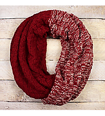 Red Colorblock Infinity Scarf #EANT8518-RD
