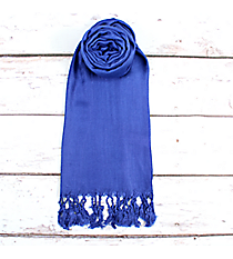 Royal Blue Pashmina Scarf #EAPS0130-RB