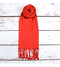 Red Pashmina Scarf #EAPS0130-RD