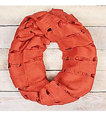 Rust Open Weave Knit Infinity Scarf #EASC7396-RU