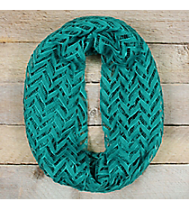 Teal Lace Chevron Infinity Scarf #EASC8074-MT