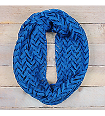 Royal Blue Lace Chevron Infinity Scarf #EASC8074-RB