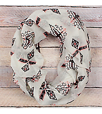 Pink and Black Aztec Ivory Infinity Scarf #EASC8111-PK