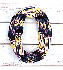 Purple, Blue, and Yellow Aztec Infinity Scarf #EASC8174-PP