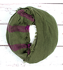 Green and Purple Striped Infinity Scarf #EASC8206-GN