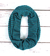 Teal Striped Knit Infinity Scarf #EASC8208-TL