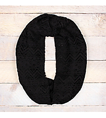 Black Lace Infinity Scarf #EASC8239-BK