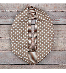 Beige Polka Dots and Stripes Infinity Scarf #EASC8302-BE