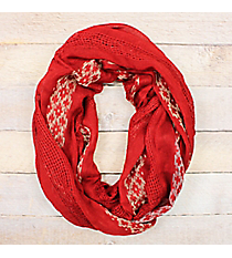 Moroccan Desert Red Infinity Scarf #EASC8429-RD