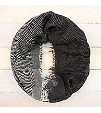 Black Ombre Woven Infinity Scarf #EASC8430-BK