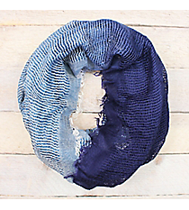 Navy Ombre Woven Infinity Scarf #EASC8430-NV