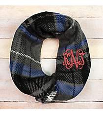 Autumn Nights Infinity Scarf, Navy #EASC8457-NV