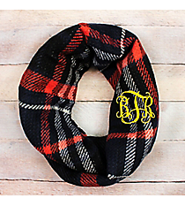 Autumn Nights Infinity Scarf, Black #EASC8457-BK
