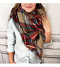 Haute for Autumn Blanket Scarf #EASW8400-BE