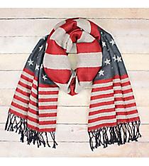 American Flag Shawl with Fringe #EASW8452-U