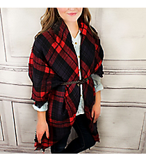Campfire Cozy Blanket Scarf #EASW8475-NVRD