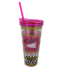 Cheer Mom 22oz Double Wall Tumbler with Straw #F149314