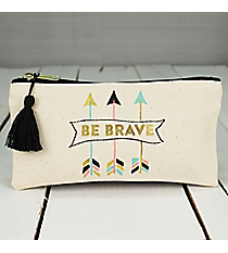 'Be Brave' Pouch with Tassel #F155399