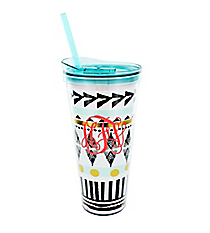 Bohemian Chic 22 oz. Double Wall Tumbler with Straw #F155623
