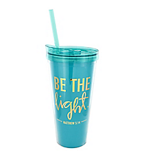 'Be The Light' 22oz. Double Wall Tumbler with Straw #F155642
