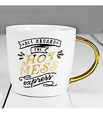All Aboard the Hot Mess Coffee Mug #F161099