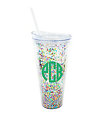 Rainbow Glitter and Glamour 22 oz. Double Wall Tumbler with Straw #F161519