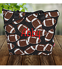 Football Quilted Shoulder Bag #FTQ1515-BLACK
