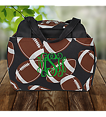 Football Insulated Bowler Style Lunch Bag #FTQ255-BLACK