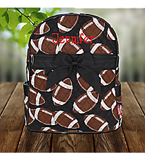 Football Quilted Large Backpack with Black Trim #FTQ2828-BLACK