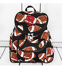 Football Quilted Petite Backpack #FTQ286-BLACK