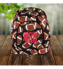 Football Large Backpack #FTQ403-BLACK