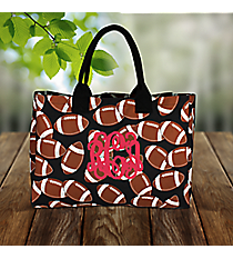Football Wide Tote Bag #FTQ581-BLACK