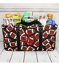 Football with Black Trim Collapsible Haul-It-All Basket with Mesh Pockets #FTQ603-BLACK