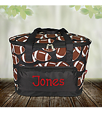 Football Cooler Tote with Lid #FTQ89-BLACK