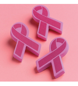 One Dozen Pink Ribbon Foam Antenna Toppers #5/698
