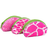 One Dozen Pink and White Animal Print Coin Purses #14/914-ASST