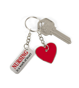"One Dozen ""Nursing is a Work of Heart"" Keychains #19/642"