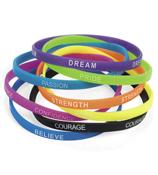 12 Thin Inspirational Rubber Bracelets #85/3500