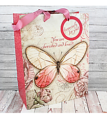 Philippians 1:7 'Cherished and Loved' Medium Gift Bag #GBA143