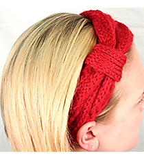 Red Knit Headwrap #HB1714-RED