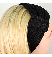 Black Knit Headwrap #HB1976-BLACK