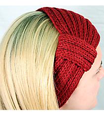 Burgundy Knit Headwrap #HB1976-BURGUNDY